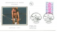 fdc fra 1997 aug. 30th wrc aiguebelette illustated cover