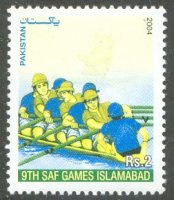 stamp pak 2004 march 29th saf games islamabad mi 1197 8 without red colour