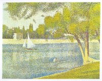 painting fra georges seurat the seine at the isle of grande jatte in the spring 1887