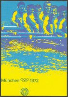 pc ger 1972 og munich official poster showing the ger m8 1964 winner of the silver medal at og tokyo