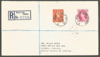 Registered letter GBR 1954 June 30th with PM Mobile Post Office Henley and registration label Henley on Thames No. 9759
