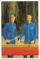 cc gdr 1984 olympioniken der ddr bernd and joerg landvoigt gold medal winners in the 2 event at og moscow 1980