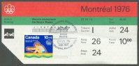 ticket can 1976 og montreal july 24th finals with stamp and commemorative postmark