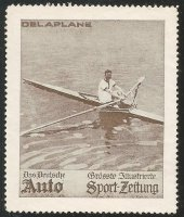 Cinderella GER Auto Sport Zeitung DELAPLANE Single sculler FRA European champion 1906 08 1910 brown colour