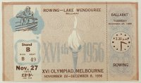 Ticket AUS 1956 OG Melbourne Nov 27th finals Coll. JE