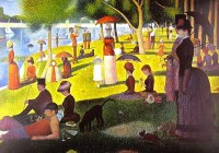 painting fra g. seurat sunday afternoon on isle of grande jatte