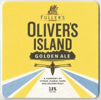Beer mat GBR FULLERS OLIVERS ISLAND Golden Ale front