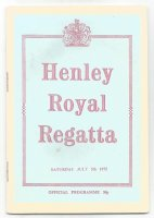 Henley Regatta 1975 July 5th program cover