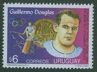 stamp uru 1997 nov. 26th mi 2309 guillermo douglas bronze medal 1x og los angeles 1932