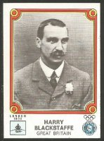 CC ITA 1976 PANINI Montreal 76 No. 30 Harry Blackstaffe GBR M1X gold medal winner OG London 1908