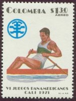 stamp col 1971 july 16th panamerican games mi 1196 single sculler