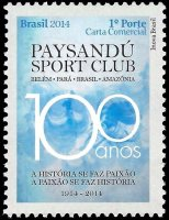 Stamp BRA 2014 Febr. 2nd Paysandu Sport Club centenary