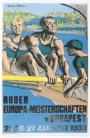 poster ger 1933 erc budapest aug. 25th 27th copy from book schlag auf schlag . ger 1998