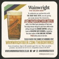 Beer mat GBR 2019 WAINWRIGHT BEER The Boat Race official beer reverse