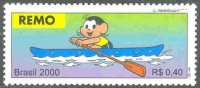 stamp bra 2000 sept. 9th olympic sports mi 3072 comic drawing of single sculler