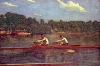 painting t.eakins the biglin brothers racing