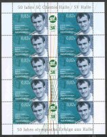 stamp ger 2008 june 30th mzz halle ms 10 values 0 82 cent andreas hajek olympic gold medal winner m4x 1992 1996