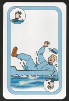 Card game AUT 1997 Oxford Cambridge Boat Race Cambridge fan falling into the water
