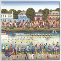 Painting GBR The Boat Race by Louise Braithwaite