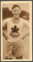 CC GBR 1929 GODFREY PHILLIPS Olympic Champions Amsterdam 1928 No. 34 H. W. G. Wright Jr. CAN