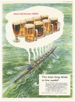 Ad GBR 1956 THE BREWERS SOCIETY Good wholesome Beer the best long drink in the world