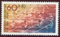 stamp ger 1981 apr. 10th sport mi 1094 4x race