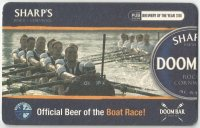 Beer mat GBR 2008 SHARPS Brewery DOOM BAR Official Beer of the Boat Race