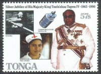 Stamp TGA 1990 July 4th Kings silver jubilee Mi 1134