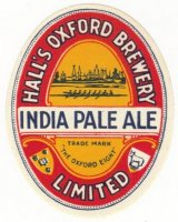 Beer label GBR 1930 Halls Oxford Brewery India Pale Ale
