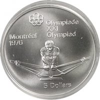 Coin CAN OG Montreal 1976 5 Dollars Silver 925 2430 g