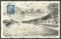 pc ger berlin gruenau drawing of olympic regatta course with pm 1939 july 1st meyerheim olympia no. 1