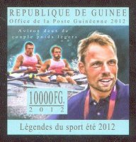 stamp gui 2012 dec. 17th lgendes du sport t 2012 m2x imperforated