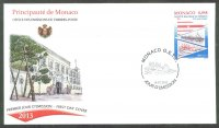 fdc mon 2013 jan. 16th 125th anniversary of sn de monaco