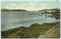 pc aus hopkins river at warrnambool victoria pu 1911 boathouse at right two 4 on the river