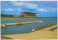 pc urs rowing canal moscow photo of 8 and 2 at pontoon with grandstand in background