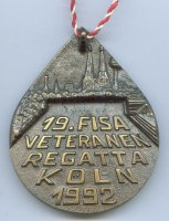 medal ger 1992 19th fisa veterans regatta cologne