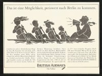 Ad GER 1987 BRITISH AIRWAYS This is a chance to get cheaply to Berlin