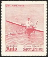 Cinderella GER Auto Sport Zeitung DELAPLANE Single sculler FRA European champion 1906 08 1910 red colour