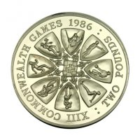 Coin GUERNSEY 1986 Commenwealth Games 2 Pounds