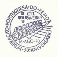 pm por 1970 aug. 16th portuguese rowing federation 50th anniversary 8x