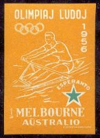 label aus 1956 og melbourne esperanto orange colour