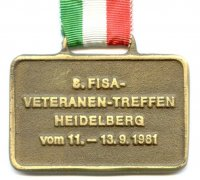 medal ger 1981 8th fisa veterans meeting regatta heidelberg front