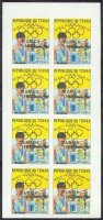 stamp cha 1972 febr. 7th gold medal winners at og mexico with golden imprint munich 1972 olympic rings mi 482 imperforated complete sheet of 8