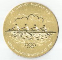 beer mat ger 1972 gold medal for germanys m4 at og munich