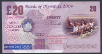 fancy banknote gbr 2004 og athens 20 gbp gbr 4 crew gold medal winners coll. e