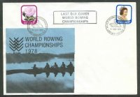 illustrated cover nzl 1978 wrc lake karapiro with last day cancellation nov. 5th