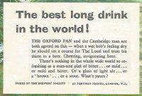 Ad GBR 1956 THE BREWERS SOCIETY Good wholesome Beer the best long drink in the world detail
