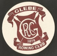 Beer mat AUS Glebe RC 1879 Sydney brown