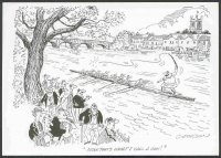 pc gbr henley rowing cartoons by b. cookson cox of 8 flourishing whip