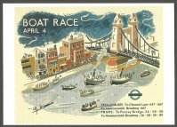 PC GBR 1936 Boat Race Reprint of Underground poster by Walter Goetz